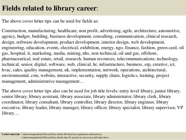 Top 10 library cover letter tips