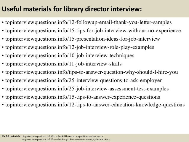 Top 10 library director interview questions and answers