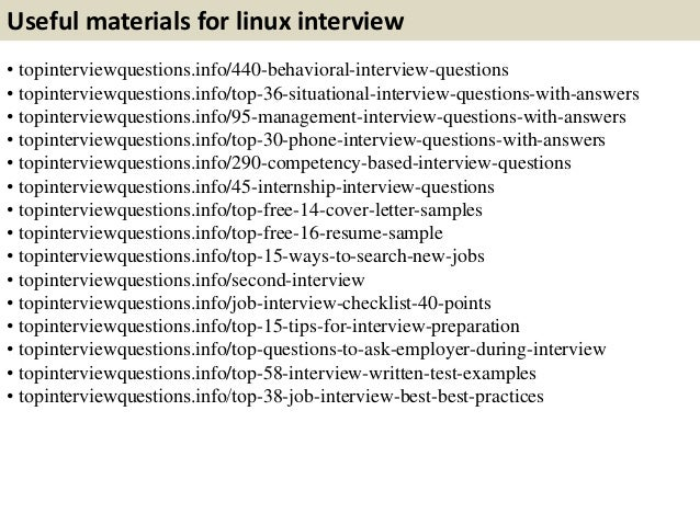 11 useful materials for linux interview - Linux Administrator Interview Questions And Answers