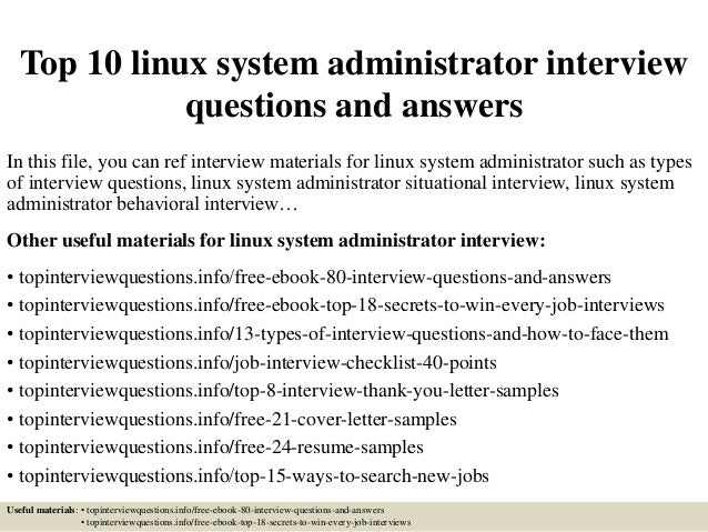 Sample Linux System Administrator Cover Letter Template. Systems ...