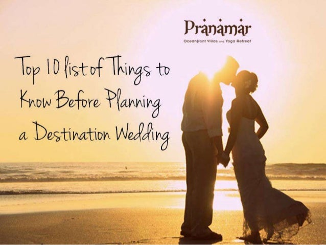 Top 10 List Of Things To Know Before Planning A