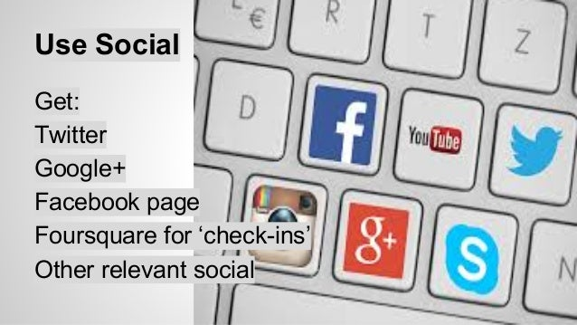 Share and share alike  Use Social sharing icons  Ask them to follow  Share all blog posts  Promote special offers  Give go...