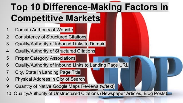 Top 10 Negative Ranking Factors  1 Listing detected at false business location  2 Incorrect business category  3 Mis-match...