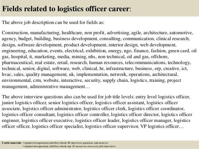 Elegant Logistics Officer Job Description. Logistics Manager Cv Template Good Ideas Pictures