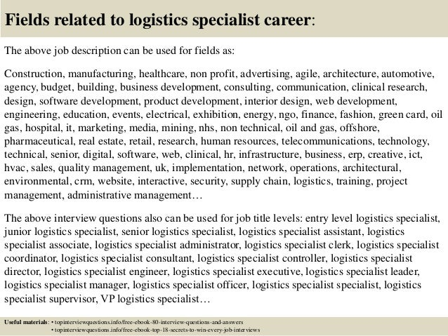 Delightful ... 17. Fields Related To Logistics Specialist Career: The Above Job  Description ... Images