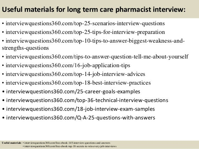14 useful materials for long term care pharmacist interview - Pharmacy Technicianinterview Questions And Answers