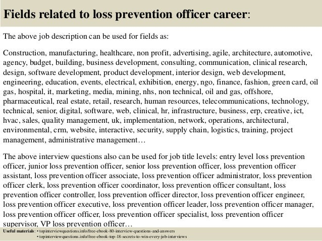 loss prevention job description - Production Associate Job Description