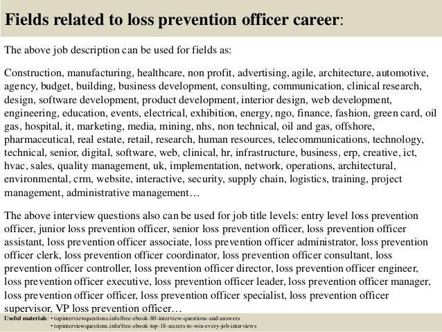 resume cover letter loss prevention resume keywords and loss ...
