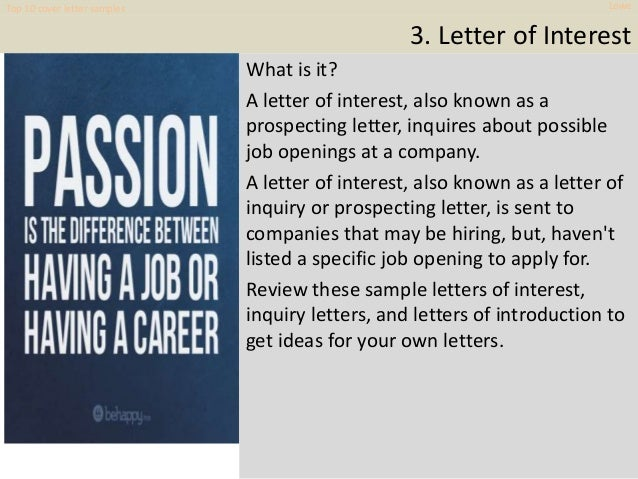 top 10 lowe cover letter samples