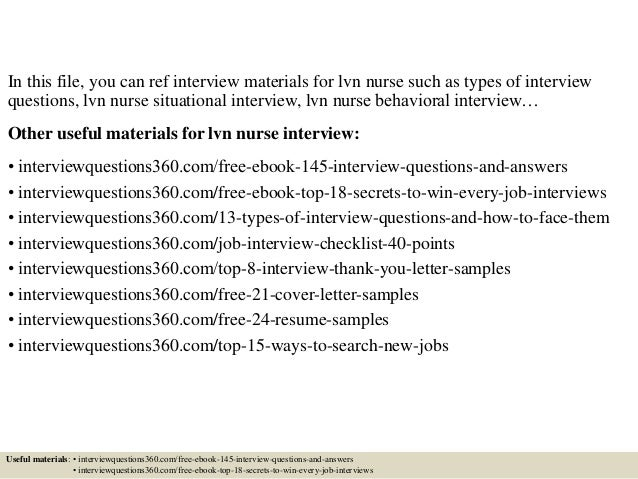Top  Lvn Nurse Interview Questions And Answers