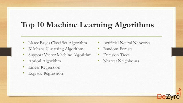 A Tour of The Top 10 Algorithms for Machine Learning Newbies