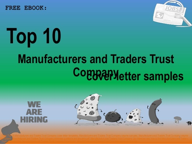 Top 10 manufacturers and traders trust company cover letter samples