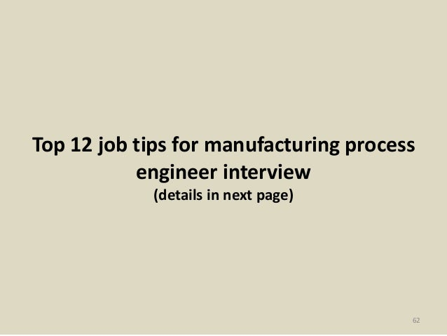 61; 62. Top 12 Job Tips For Manufacturing ...
