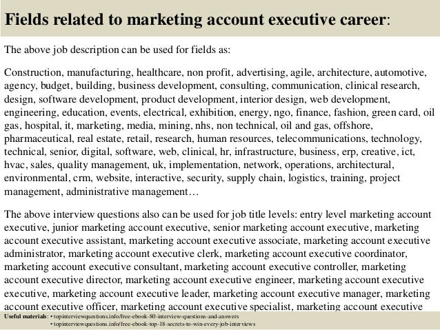 Top 10 marketing account executive interview questions and answers
