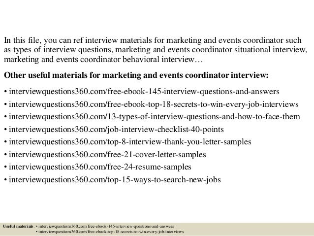 top 10 marketing and events coordinator interview questions and answers - Marketing Coordinator Interview Questions And Answers
