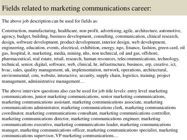 Top 10 Marketing Communications Interview Questions And Answers