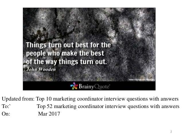 free ebook top 52 marketing coordinator interview questions with answers 1 2 - Marketing Coordinator Interview Questions And Answers