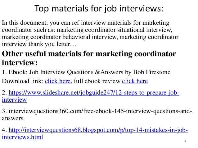 Top 52 marketing coordinator interview questions and answers pdf