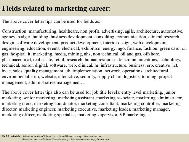 marketing director cover letter