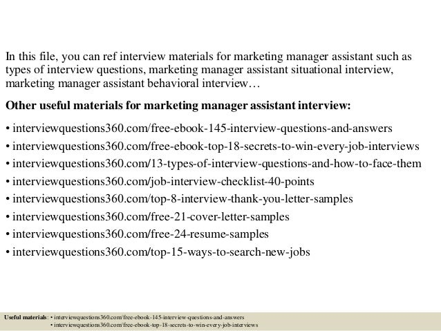 2 in this file you can ref interview materials for marketing manager - Marketing Manager Interview Questions And Answers