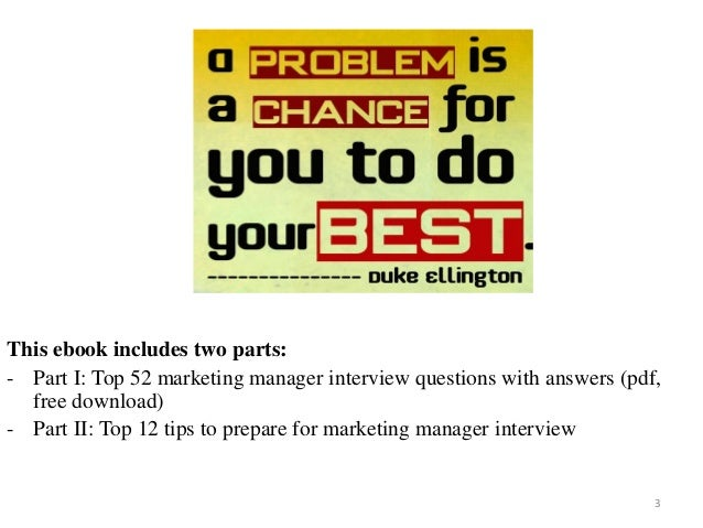 marketing manager interview questions with answers on mar 2017 3 - Marketing Manager Interview Questions And Answers