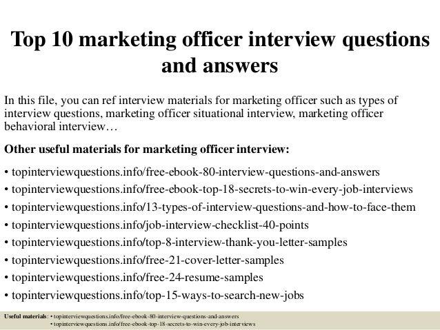 top10marketingofficer interviewquestionsandanswers1638jpgcb 1428287568 – Marketing Officer Job Description