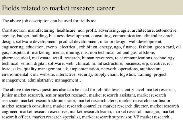 Top 10 market research interview questions and answers