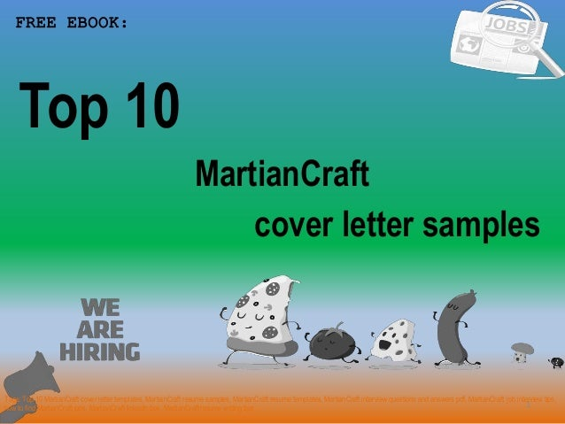 Top 10 Martian Craft Cover Letter Samples