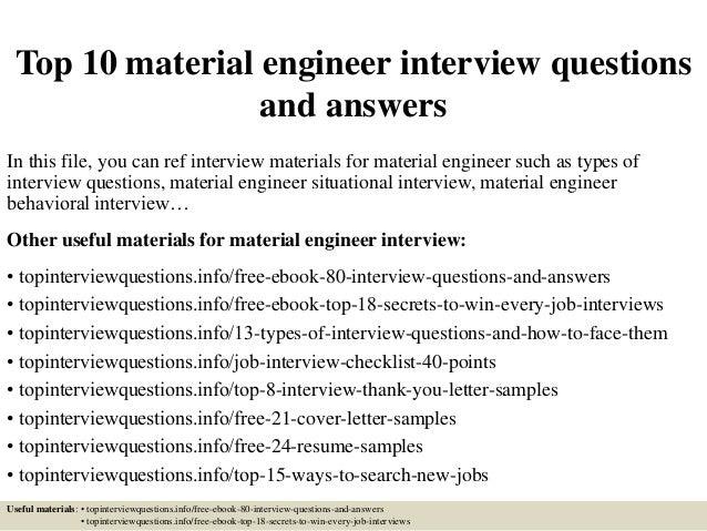 interview materials