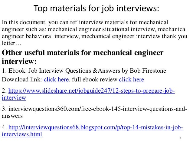for mechanical engineer interview 4