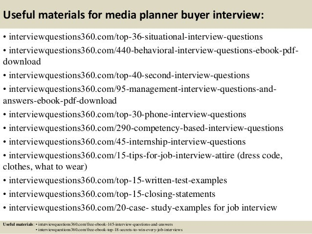 Top 10 media planner buyer interview questions and answers – Jewelry Buyer Jobs