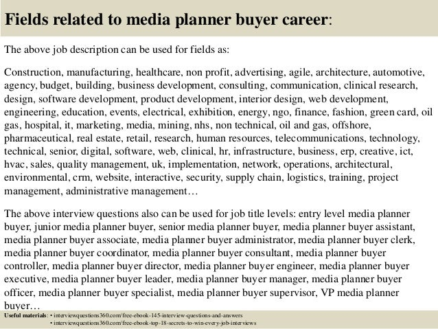 media planner job description assistant media planner resume