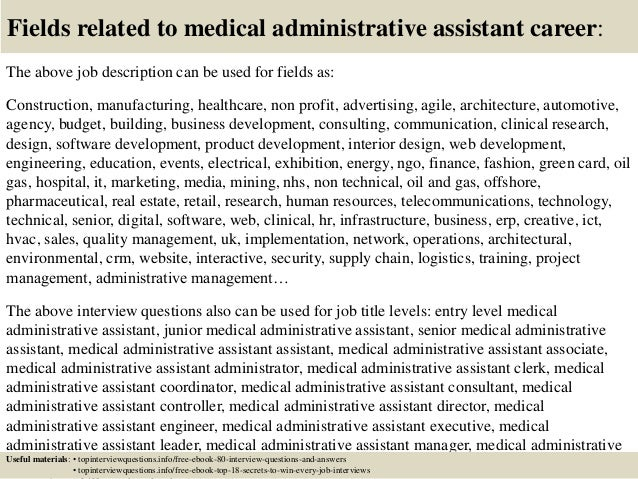 Top  Medical Administrative Assistant Interview Questions And Answe
