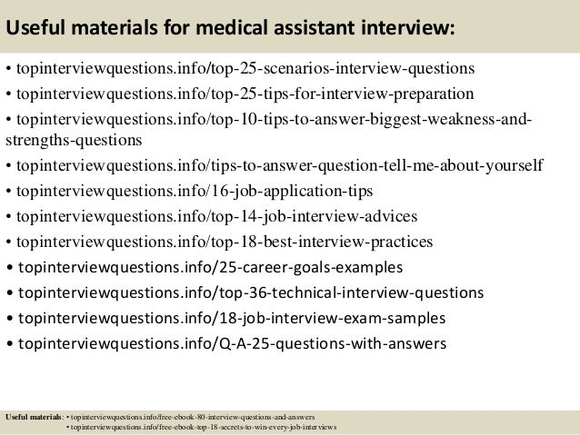 13 useful materials for medical assistant interview - Medical Assistant Interview Questions And Answers