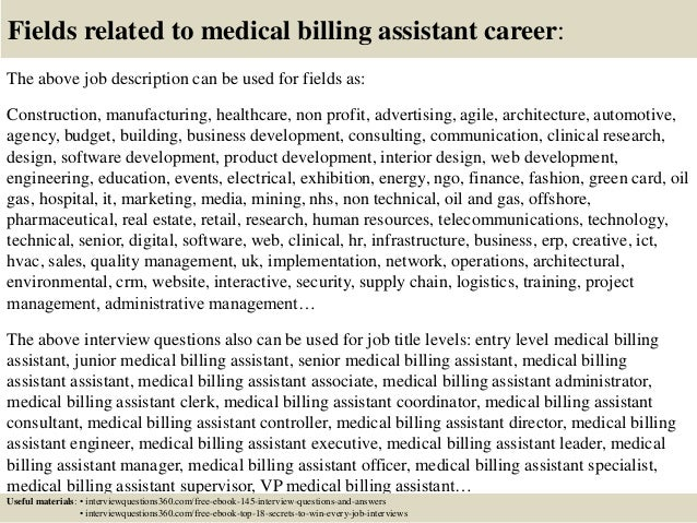 Top 10 medical billing assistant interview questions and answers – Job Description of a Medical Biller