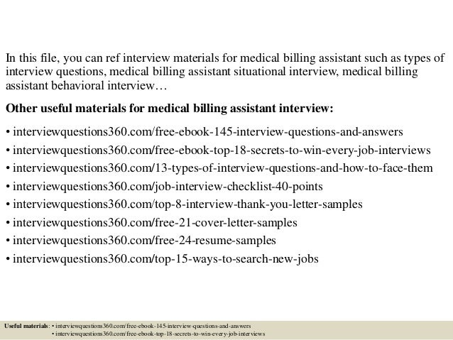 Medical Billing Cover Letter. Assistant Cover Letter Example