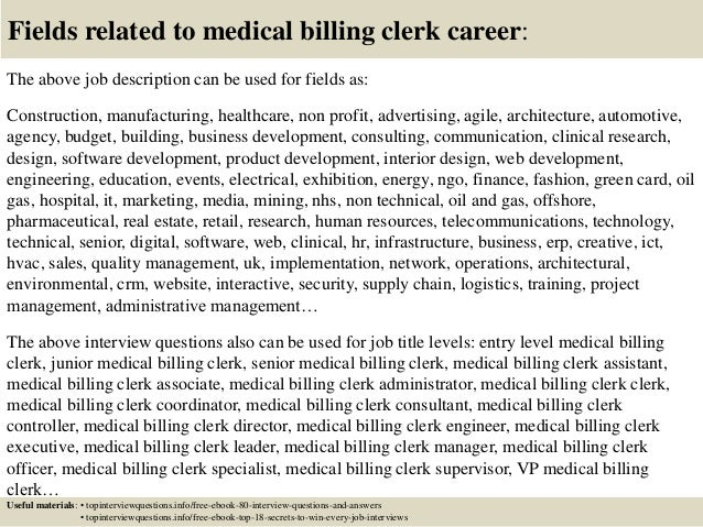 Top 10 medical billing clerk interview questions and answers – Medical Billing Manager Job Description