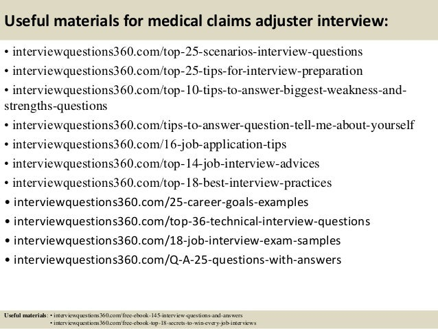 Top 10 medical claims adjuster interview questions and answers – Job Description for Claims Adjuster