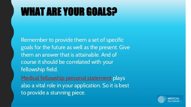 Amazing WHAT ARE YOUR GOALS?