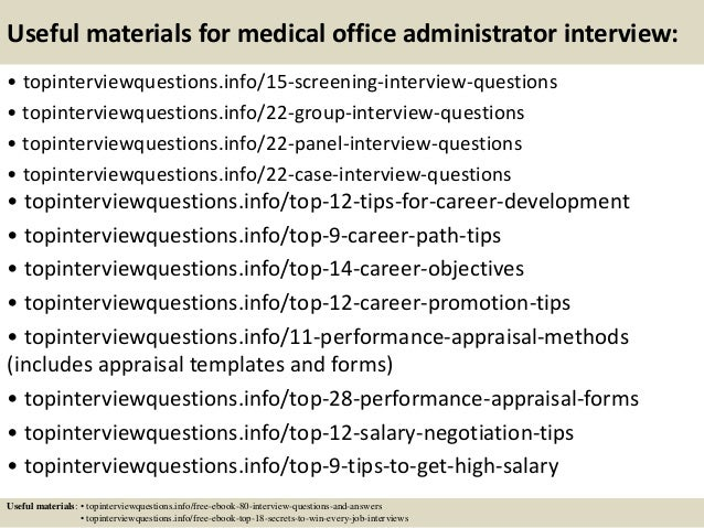 Superb ... 15. Useful Materials For Medical Office Administrator ...