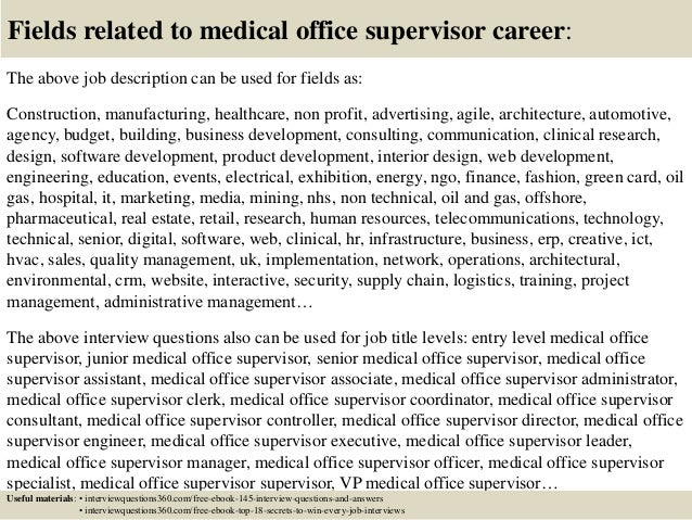 Top 10 medical office supervisor interview questions and answers