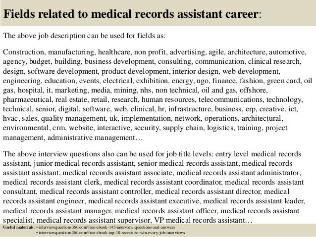 Top 10 medical records assistant interview questions and answers – Medical Records Job Description