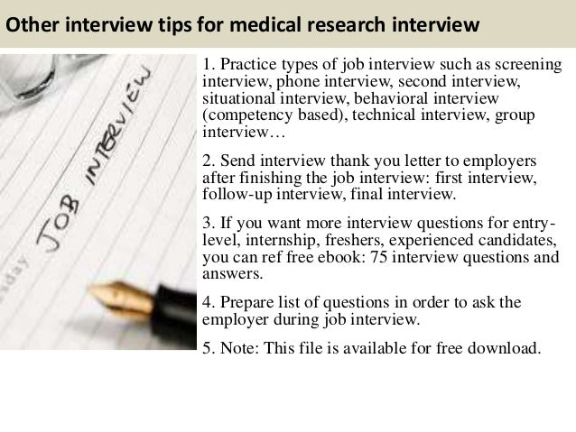 good interview questions to ask for a research paper