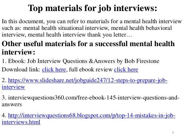 Mental Health Interview Questions Urgupkapookco