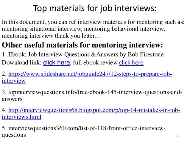 Top  Mentoring Interview Questions With Answers Pdf