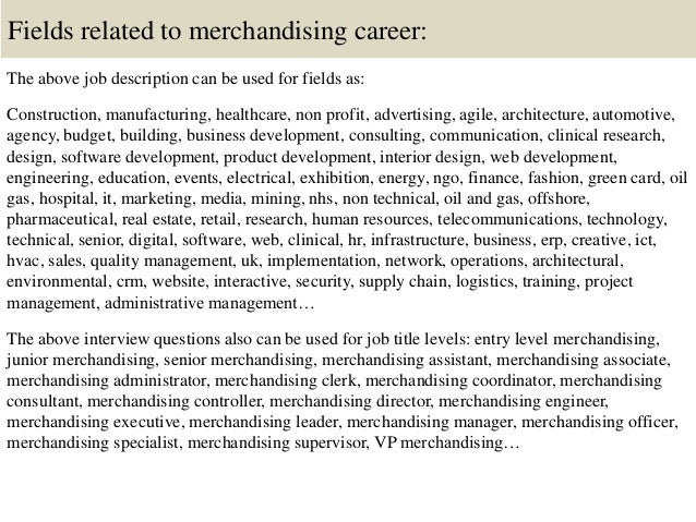 16 - Job Description For Merchandiser