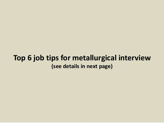 related post for metallurgist job description