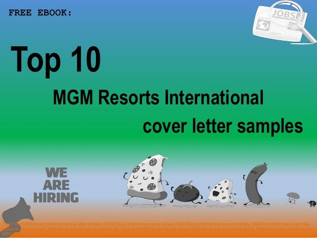 Top 10 Mgm Resorts International Cover Letter Samples