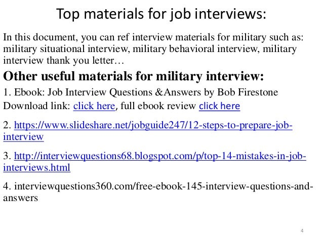 top 36 military interview questions with answers pdf