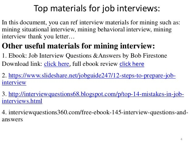 top 36 mining interview questions with answers pdf